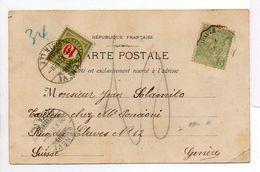 - Carte Postale MONTE-CARLO Pour GENEVE (Suisse) 29.10.1901 - Taxée 10 C. - A ETUDIER - - Portomarken