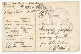 Marcophilie - 88 Vosges Fraize Cachet 51 E Regiment Territorial D'infanterie 1915 - Marcophilie (Lettres)
