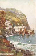 """A.W.Bridgeman. Clovelly. The  Harbour "" Tuck Oilette  PC # 7233 - Tuck, Raphael"