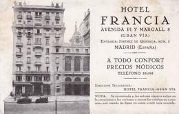 HOTEL FRANCIA, MADRID, GRAN VIA. PORTILLO -TBE-BLEUP - Hotel's & Restaurants