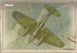 MB090 Portugal Matchboxes Serie Aviôes 1975  N - 24 HeinKel HE 111H Alemanha ( Caixa Vazia ) - Scatole Di Fiammiferi