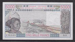 Côte D'Ivoire - 5000 Francs - 1985 -  Pick N°108An - Neuf - Côte D'Ivoire