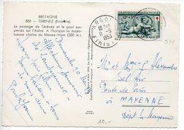 12F Croix-rouge 1952 (n° 937) Seul Sur Carte De + De 5 Mots Du 11.5.1953 - Poststempel (Briefe)