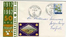 Iceland/Islande/Ijsland/Island Scout Cancel 1962 On Matching Cover SCARCE Label - Otros