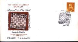 ECHECS  Tournoi Ibercaja De Ajedrez / Memorial Dr. REY ARDID - Zaragoza 1992  Cachet Special  Espagne - Scacchi