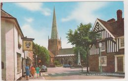 Angleterre,the Parish Church,solihull,midlands De L'ouest ,sud De Birmingham,masons Arms,ed J Salmon Sevenoaks,rare - Birmingham