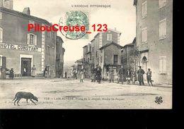 """07 Ardèche - LABLACHERE - """" Place De La JAUJON  Route De PAYZAC - Hôtel CONSTANT - Belle Animation """" - France"""