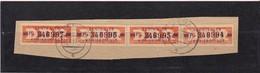 """DDR, Dienst: ZKD 4x Nr.22 """"P"""", Original, Gest..auf Briefstück Mi. 104,- Euro (K 1733) - Service"""
