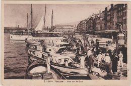 Cpa,TOULON En 1936,vue Sur Le Quai,arrivée Des Marins,déchargement ,caisse De Vin,ed Belle éditions Française,rare - Toulon