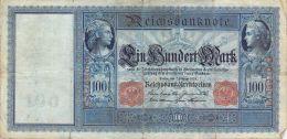 Geburts Tag Datum Geschenk 7:Februar Auf Einem 100 Mark-Schein Von 1908 - [ 2] 1871-1918 : Empire Allemand