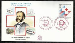 125éme ANNIVERSAIRE DE LA  CROIX ROUGE FRANCAISE  . 19 NOVEMBRE 1988 . LE BOURGET . - FDC