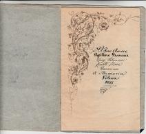 """Opuscoletto Con Due Poesie Manoscritte Con Firma Autografa Da Luigi Palmarini Detto """" Argellano """" 10 Facciate 1855 - Manuscrits"""