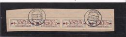 """DDR, Dienst: ZKD 4x Nr.20 """"E"""", Original, Gest..auf Briefstück Mi. 40,- Euro (K 1734) - Service"""