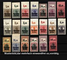 Belgien,Nr-1-7 + 10-22,xx,mit Oberrand,Michel Ca 180,- - Besetzungen 1914-18