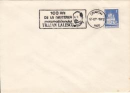 70045- TRAIAN LALESCU, MATHEMATICIAN, SPECIAL POSTMARK ON COVER, MONASTERY STAMP, 1982, ROMANIA - Célébrités