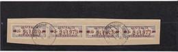 """DDR, Dienst: ZKD 4x Nr.20 """"J"""", Original, Gest..auf Briefstück Mi. 140,- Euro (K 1736) - Service"""