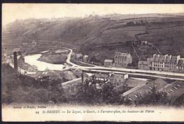 CPA - SAINT BRIEUC (22 - COTES D'ARMOR) - LE LEGUE, LE GOUET, A L'ARRIERE PLAN, LES HAUTEURS DE PLERIN (N° 94) - Saint-Brieuc