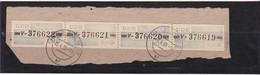 """DDR, Dienst: ZKD 4x Nr.26 """"V"""", Original, Gest..auf Briefstück Mi. 300,- Euro (K 1737) - Service"""