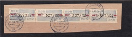 """DDR, Dienst: ZKD 4x Nr.28 """"V"""", Original, Gest..auf Briefstück Mi. 600,- Euro (K 1738) - Service"""