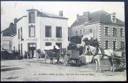 """44  St PERE En RETZ  Coin De La Place """"Hotel BOURMAUD"""" 1923   Paimboeuf Brévin Pornic Chauvé - Sonstige Gemeinden"""