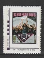 """France : """"Rugby Champion De France"""" Du Collector """"Les Girondins De Bordeaux"""" - Neuf ** - Etat Impeccable - - France"""