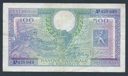 """. Belgique - 500 Francs / 100 Belgas - Vloors/Poortman-Minguet - Type """"Londen/Londres"""" - 01-02-1943 - [ 2] 1831-... : Belgian Kingdom"""