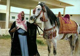 Saudi Arabia, Arab Sheikh With Horse (1970s) Postcard - Saudi Arabia