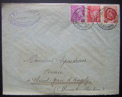 1942 Saint Martin De La Coudre (Charente Inférieure)  Lettre Du Notaire Ginguenaud, Bel Affranchissement - Postmark Collection (Covers)