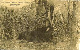 """CP Du Congo Belge / Belgisch-congo  """" Antilope Cheval - Paardantilope """" - Belgian Congo - Other"""