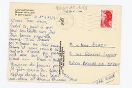 LIBERTÉ N° Yt 2319 - SUR CP DU 8/1/85 DE St BARTHELEMY À LA GAUDELOUPE - 1982-90 Liberty Of Gandon