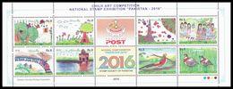 2016 Pakistan Child Art Competition Stamps National Stamp Exhibition Karachi (8v) MNH (PK-104) - Pakistan