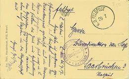 """CP De Oostende """" Het Strand En De Kursaal """" Cachet FELDPOST & Rhein-russ. Artl-regt 8 1 . Batterie - Postmark Collection"""