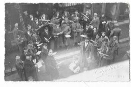 MOUTIERS Ou Environs (73) Carte Photo Fanfare Musiciens Belle Animation - Moutiers
