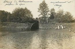 89 : Etang De Villarnoux - Pêche De 1910 Carte Photo - France