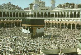 Saudi Arabia, MECCA MAKKAH, Kaaba During The Hajj (1970s) Islam Postcard (2) - Saudi Arabia