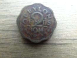 Sri Lanka  (ceylon)  2  Cents  1944  Km 117 - Sri Lanka