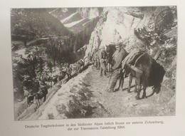 Photos Allemandes Recto Verso -  477 Colonne Allemande Zickzackweg Travenanzes - Talsyellung - Gletscherhöhen Marmolata - Optique