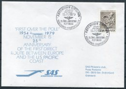 1979 Denmark Greenland SAS First Flight Cover. - Luchtpostzegels