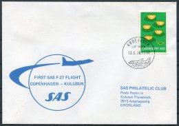 1978 Denmark Greenland SAS First Flight Cover. Copenhagen - Kulusuk - Luchtpostzegels