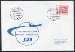 1978 Greenland Denmark SAS First Flight Cover. Kulusuk - Copenhagen - Covers & Documents