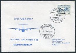 1979 Greenland SAS First Flight Cover. Godthab - Stromfjord . Slania - Covers & Documents