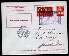 A5236) Schweiz Privatganzsache Mit Zufrankatur Basel 17.5.1926 - Luftpost