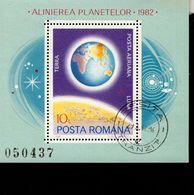 Rumänien Block 181 Planetenkonstellation Used Gestempelt - Hojas Bloque
