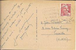 CALVADOS  - ST AUBIN SUR MER  - DAGUIN N° ST AU 405 D  - VOIR DESCRIPTION -  1947 -  CPA PALGE ST AUBIN - Postmark Collection (Covers)