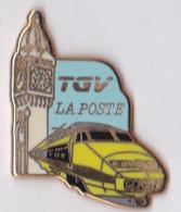 Grand Pin's SNCF TGV La Poste Courrier 1984 Qualité Zamac Signé Ballard - TGV