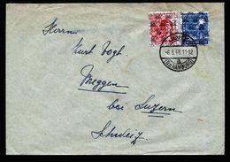 A5239) Bizone Brief Jork 6.8.48 In Die Schweiz M. Mi.43II, 46II - Bizone