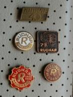 5 PINS LOT - Z42 - RUDNAP  BELGRADE, Wholesale Of Metal And Metal Rods, Vente En Gros De Tiges Métalliques Et Métallique - Badges