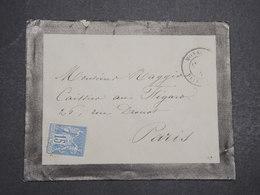 MONACO - Enveloppe De Monaco Pour Paris , Affranchissement Type Sage - L 14744 - Monaco