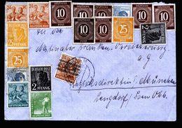 A5240) Bizone Brief Augsburg 12.7.48 Mit Vorbereiteter 10fach- Und EF Mi.44I - Bizone