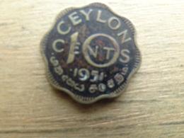 Sri Lanka  (ceylon)  10  Cents  1951 Km 121 - Sri Lanka